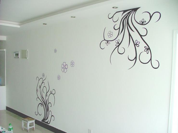 店装饰现代艺术墙绘帮您